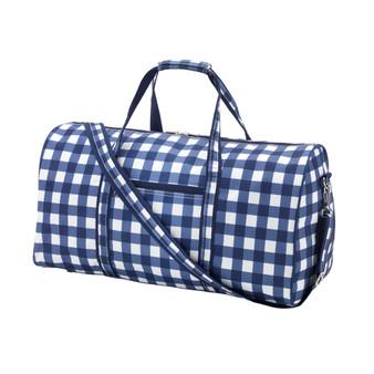 Monogrammed Navy Owen Duffle Bag