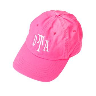Monogrammed Hot Pink Ball Cap