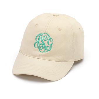 Monogrammed Khaki Ball Cap