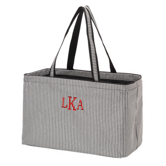 Monogrammed Houndstooth Ultimate Tote