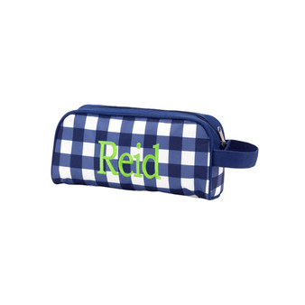 Monogrammed Navy Owen Toiletry Bag