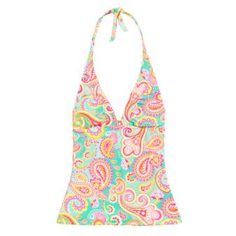 Monogrammed Summer Paisley Swim Tankini