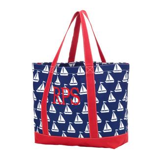 Monogrammed Sail Away Tote Bag