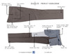 Ballin Classic Comfort-EZE Super 120s Gabardine Pants - Manchester Model (Traditional Full Fit Double Pleat Model)