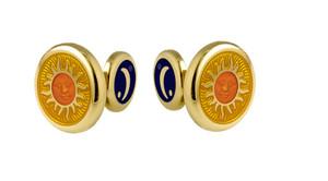 David Oscarson Celestial Cuff Links - Gold & Saffron
