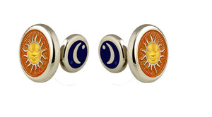 David Oscarson Celestial Cuff Links - Saffron & Gold