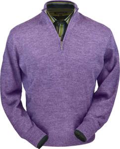 Peru Unlimited Royal Alpaca Half Zip Mock Sweater for Men (Classic Fit)