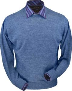 Peru Unlimited Royal Alpaca Crew Neck Sweater for Men (Classic Fit)