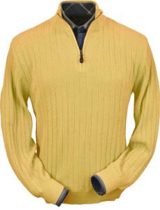 Peru Unlimited Baby Alpaca Half Zip Mock Sweater (Classic Fit)