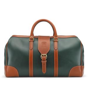 Tusting Chellington Leather Holdall In Green/Tan Atlantic