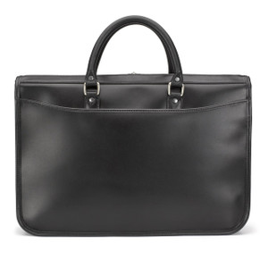 Tusting Marston Briefcase in Black Bridle Leather