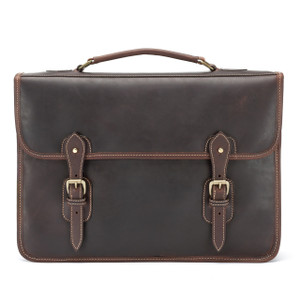 Tusting Harrold Wymington Leather Briefcase in Sundance Floodlight