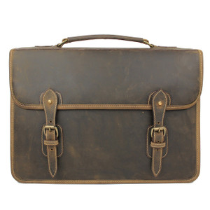 Tusting Harrold Wymington Leather Briefcase in Aztec Crazyhorse