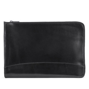 Tusting IFolio -Leather IPad and Computer Folio in Black