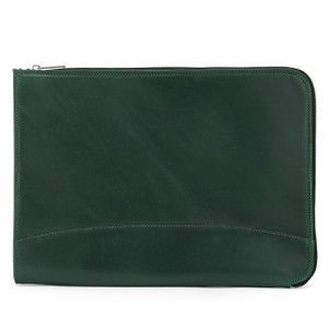 Tusting IFolio -Leather IPad and Computer Folio in Green