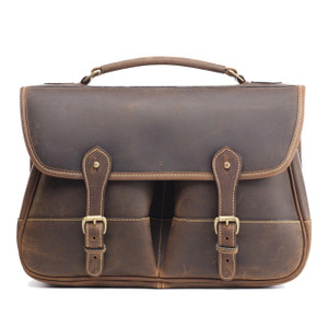 Tusting Porter Satchel in Aztec Crazyhorse Leather