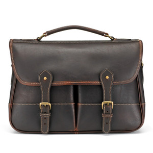 Tusting Porter Satchel in Sundance Floodlight Leather