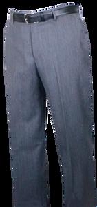 Berle Worsted Wool Gabardine, Self Sizer Flat Front Slacks