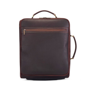 Tusting Shuttle Leather Wheeled Cabin Bag in Sundance Floodlight