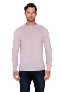 Raffi Yale --Pure Cashmere Solid Crew Sweater