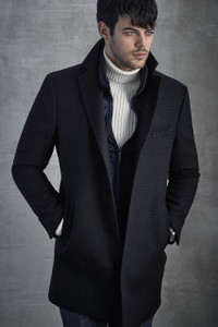 Cardinal of Canada Le Claire Modern Luxury Italian Wool Top Coat in Charcoal