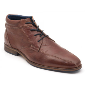 Parc City Boot Co. Roundhouse Boot in Cognac