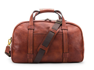 Bosca Vintage Duffle in Washed Leather