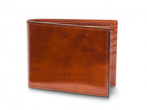 Bosca Bifold Wallet with Card I.D. Flap in Old Leather