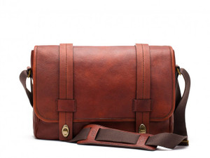 Bosca Washed Messenger Bag in Washed Leather