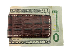T. B. Phelps Croco Leather Money Clip