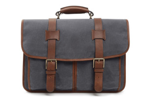 Korchmar Garfield Expedition Waxed Canvas Laptop Briefcase