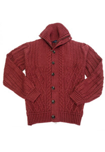 Viyella Contemporary Cable Knit Cardigan Sweater