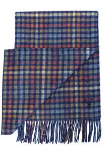 Viyella Double Faced Scarf --Blues and Browns
