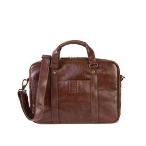 Boconi Becker Zip Briefcase in Whiskey