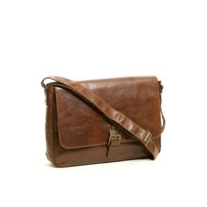 Becker Buckle Messenger Bag in Whiskey