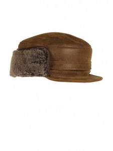 Aston Winnipeg Sheepskin Hat w/LB Trim