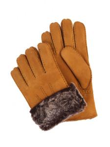 Aston Sheepskin Gloves in Suede Gold