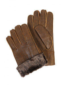 Aston Leather and Sheepskin Gloves in Rugged Whiskey