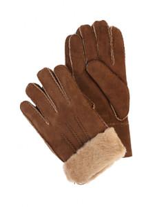 Aston Sheepskin Gloves in Suede Castano