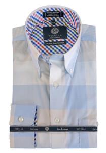 Viyella Button-Down Collar Long Sleeve No Iron Sport Shirt --Light Blue