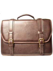 Aston Leather Conrad Double Compartment Briefcase