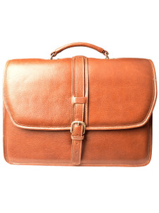 Aston Leather Melville Double Compartment Briefcase