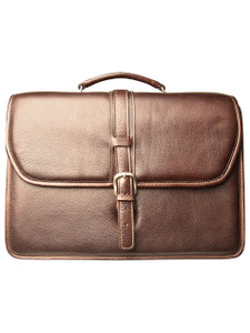 Aston Leather Melville Triple Compartment Briefcase