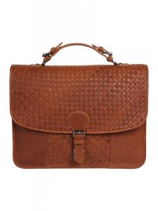 Aston Leather Hamilton Hand Woven Briefcase