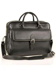 Aston Leather Sheldon Top Zippered Briefcase
