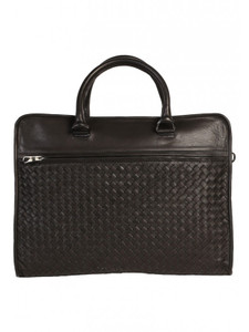 Aston Leather Anderson Hand Woven Briefcase