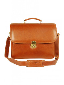 Aston Leather Double Compartment Briefcase