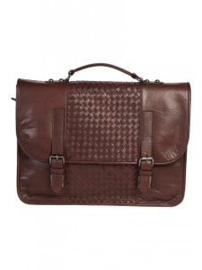Aston Leather Bently Hand Woven Briefcase