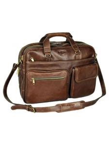 Aston Leather Tennyson Top Zippered Briefcase