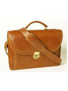 Aston Leather Single Compartment Briefcase